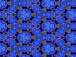 Blue fractal wallpaper