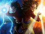 vegeta and son goku dragonball gt