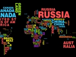 world map typography
