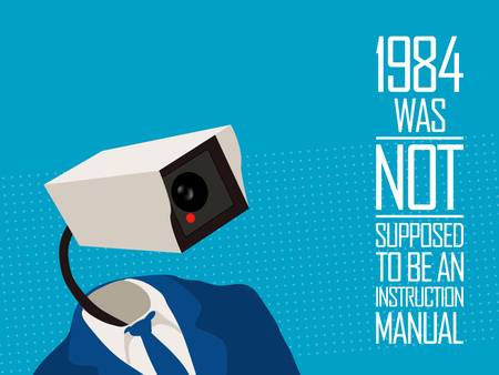 1984 - Not an Instruction Manual - instruction manual, camera, literary, vector, 1984, 1984 camera, manual, political, text, instruction