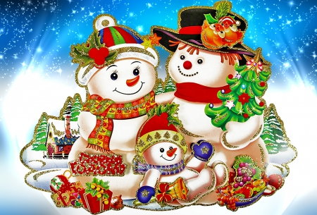 snowman family wallpaper - photo #28