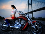 asian girl on harley davidson