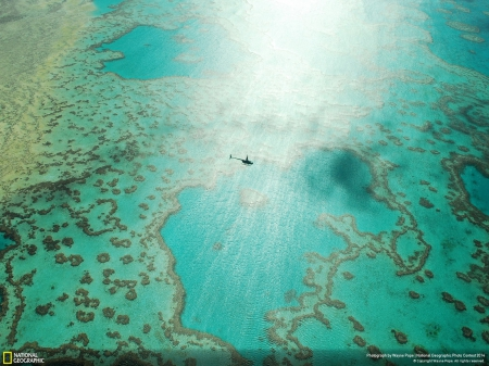 Great Barrier Reef - oceans, australia, beautiful, helicopter, great barrier reef, nature, coral reefs