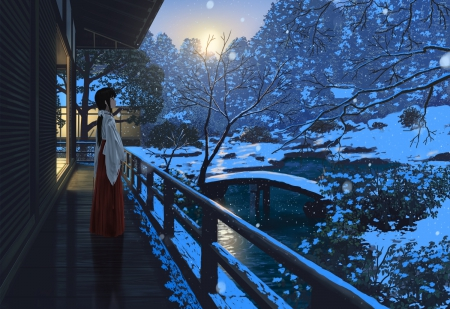 Snow Garden - Other & Anime Background Wallpapers on ...