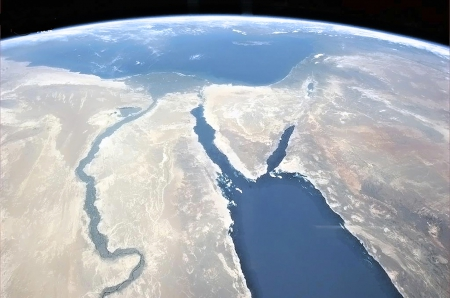 Egypt and red sea - earth, space, red sea, egypt