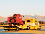 Peterbilt 389, With A Landoll Trailer