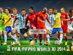 FIFA WORLD XI 2014 WALLPAPER