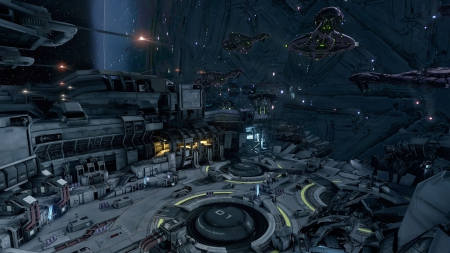 Forward Unto Dawn - space, spaceships, docks, space stations, futuristic, outer space, ships