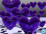 Purple Hearts - Love Poem