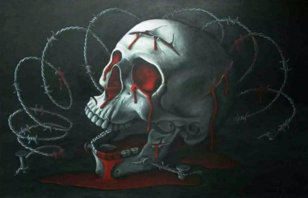 bloody skull wallpaper related - photo #44