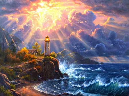 Dramatic lighting lighthouses architecture background wallpapers on desktop nexus image - Dramatic wallpaper ...