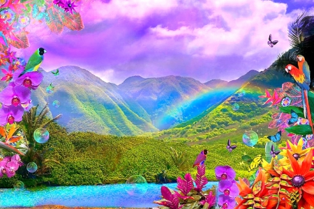colorful valley wallpaper - photo #32