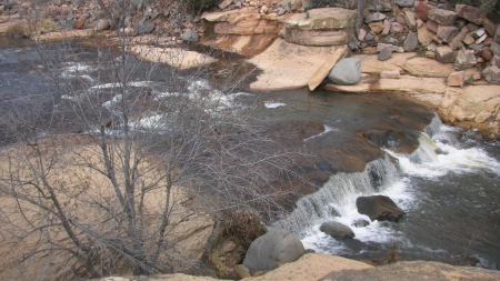 Sedona, Arizona (Slide Rock) - Nature, Tree, Rocks, Sedona, Arizona, Water, Slide