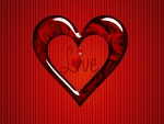 Beautiful red love heart