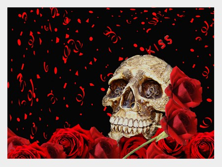 the blood rose - Collages & Abstract Background Wallpapers ...