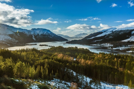 Scotland - cool, lake, forest, mountain, nature, fun