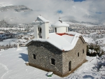 *The region Karpenissi in Greece. The church of Agios Dimitrios*