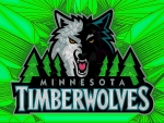 Timberwolves Cracked glass Logo