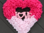 Valentine's Heart Door Wreath