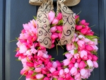 Valentine's Wreath Tulips