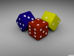 coloured dice