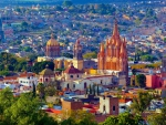 Colorful City of San Miguel in Mexico
