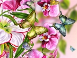 BUTTERFLIES AND ORCHIDS