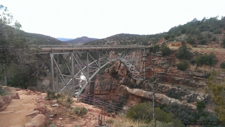 Sedona, Arizona - Rocks, Mountain, Sedona, Bridge, Sky, Arizona, Water