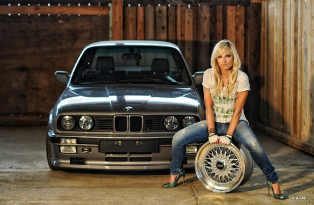 Blonde Amp Bmw With Rim Girls And Cars Amp Cars Background
