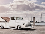 Gmc White Pickup