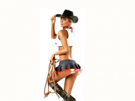 Rodeo Dancer - western, style, models, hats, rope, cowgirls, women, boots, dancing, blondes, girls, fashion, female, fun