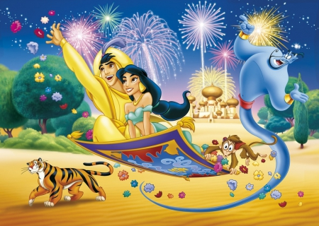 Aladdin movies entertainment background wallpapers on for Aladdin and jasmine on carpet wallpaper