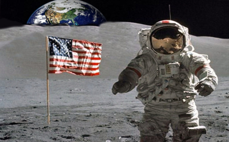 Flag on the Moon - Moons & Space Background Wallpapers on ...