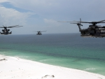 choppers over beach