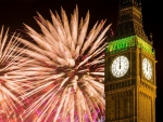Fireworks over Big Ben in London