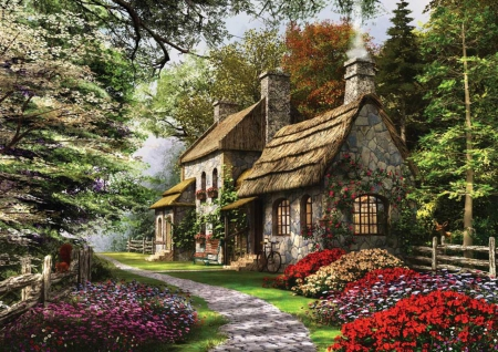 1957812 moreover Indian Spear also Sunflower Garden Klimt Cross Stitch Kit Pattern together with Shoe Shaped Cabins And Playhousesa Few together with Christmas Light Displays In Utah 2012. on fantasy cottages 30