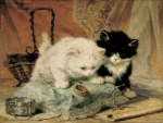 cute kittens painting
