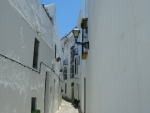 white narrow alley