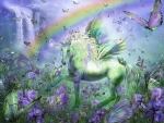 Unicorn and the rainbow