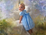 Little Girl with Blue Bow