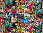 super hero collage