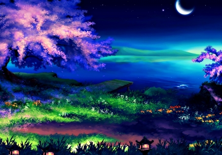 spring night fantasy amp abstract background wallpapers on