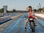 Bikini Model Tanya on a Ducati