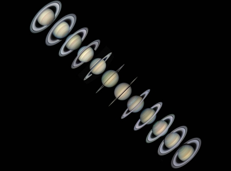 Rings and Seasons of Saturn - space, cool, saturn, planet, fun