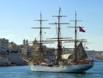 Tall Ship in a European Harbour