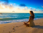 Meditation on Beach