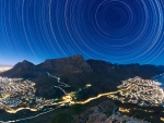 Star Trails above Table Mountain