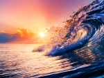 Sunset Ocean Wave