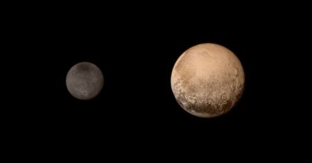 New Horizons Passes Pluto and Charon - pluto, space, cool, asteroid, planet, fun