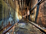 abandoned wrecked corridor hdr
